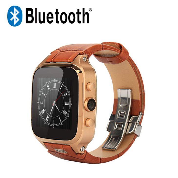 SZ9 Genuine Leather Smart Watch Phone Newest Bluetooth 4.1 Android Smart Watch Sim Card with Camera 3G Wifi Buletooth Watches(China (Mainland))