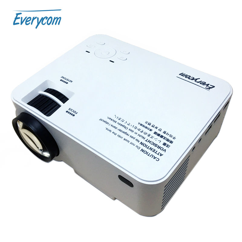 2016 new everycom x5 mini lcd projector 1500lms ac3 home for Small lcd projector reviews