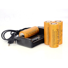 Супер-емкость 4PSC / LOT 26650 3.7 В литиевых аккумуляторных батарей 8000 мАч Bateria + 26650 зарядное устройство