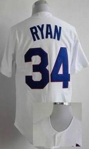 Cheap Nolan Ryan Jersey #34 Texas Baseball Jerseys Men's Throwback White Embroidery Logos(China (Mainland))