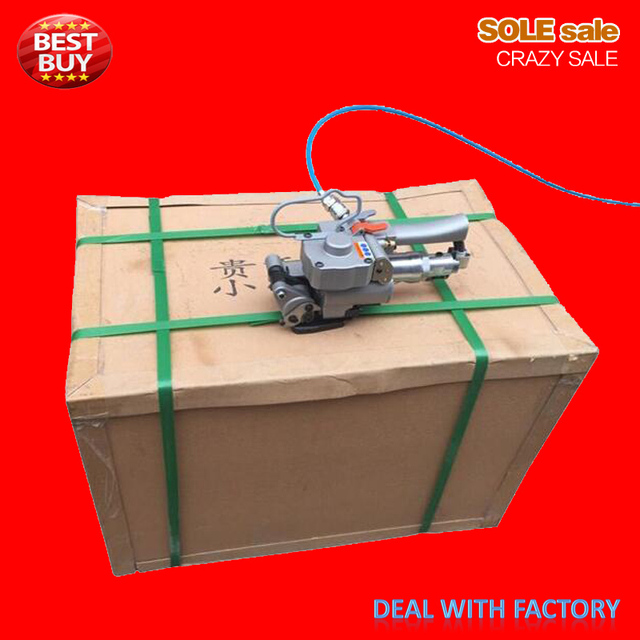 Hand held strapping tool, pneumatic strapping machine,manual PET PP banding machine AQD-19 width13-19mm,4000N carton packaging