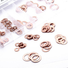 Wholesale 110Pcs/set Copper Washer Seals Ring Assortment Gaskets With Box New(China (Mainland))