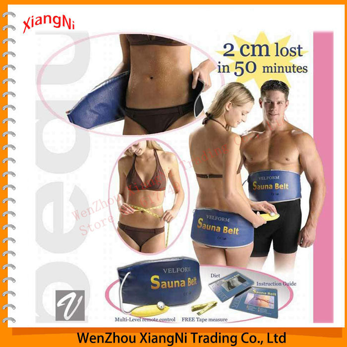 2015 New Heating Beauty Slimming Health Care Body Wrap Massager Massage Sauna Exercise Belts For Weight Loss As Seen On TV(China (Mainland))