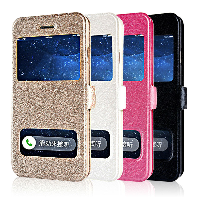 "Smart Window View Leather Case for iPhone 6 6S 4.7"" / 6 6S Plus 5.5inch SE 5s HOT Fashion Phone Stand Case Flip Cover for iPhone(China (Mainland))"