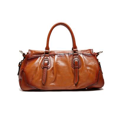 free shipping hot sale brown women 100% genuine leather handbags women's shoulder bags ladies fashion bag handbag free shipping(China (Mainland))