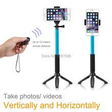 Selfie Stick Extendable Monopod+Tripod+Bluetooth Remote Shutter For iPhone 6 6 Plus 5 5C 5S/For Sony Xperia Z Z1 Z2MINI Z3 E3 C5