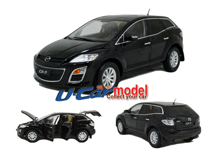 1pcs/lot 1:18 China Mazda CX-7 SUV 2012 Car Model(Die-cast) in Black color (New arrival)(China (Mainland))
