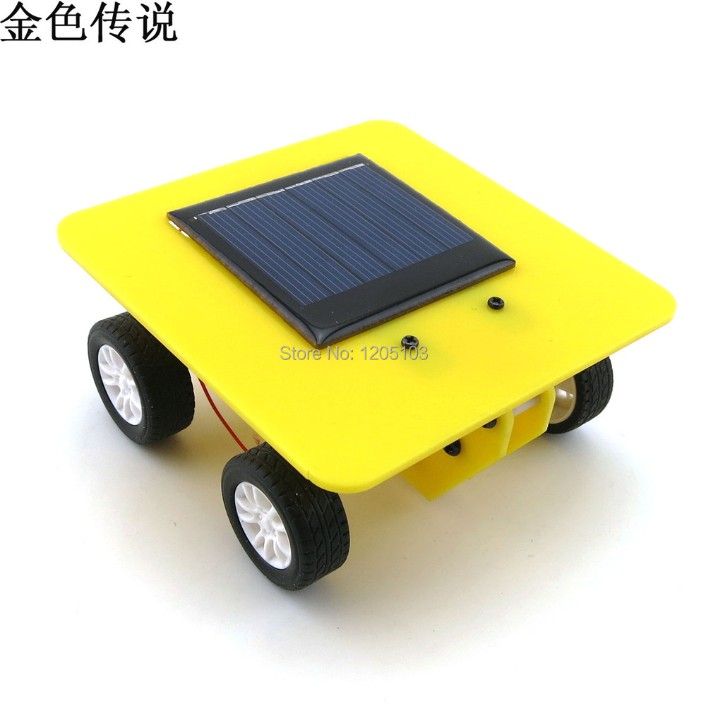 Solar car technology small production panels power science experiments novelty gift ideas gift(China (Mainland))