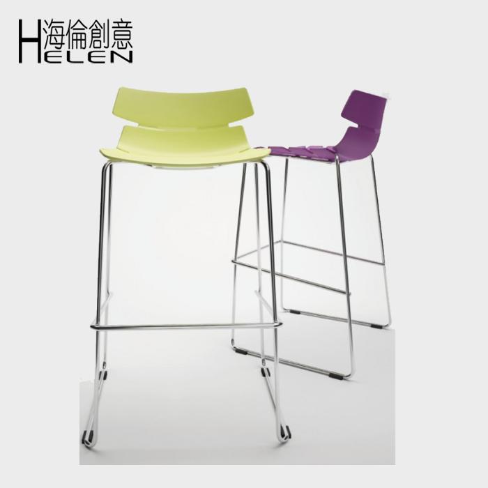 Creative simple fashion chair designer bar stool chairs high pedal Scandinavian design(China (Mainland))
