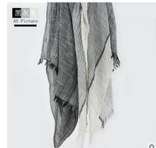 2016 Autumn Scarf Cuadros Coloblock Sciarpe New Designer Soft Blanket Cotton Basic Foulard Women's Big Size Scarves 205 x 80(China (Mainland))