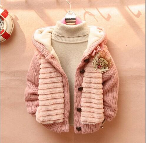 Retail 1PC Children's Fashion 2015 Outerwear Clothing Girls Faux Fur Warm Coats & Jackets Autumn Winter - Whats Apparel store