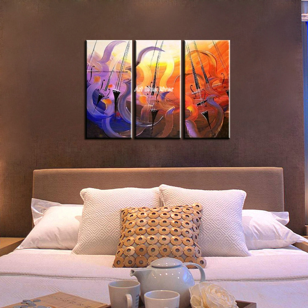 Online kopen wholesale 3 piece wall art set music uit china 3 ...
