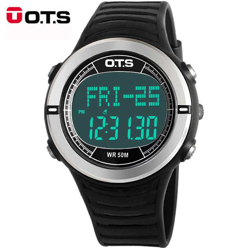 OTS Digital Sports Watches men women Waterproof military Pulse Heart Rate Step Calories Pulsometer Pedometer  wristwatches 2016<br><br>Aliexpress