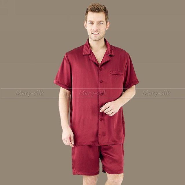 Летние Мужские Шелковый Атлас Пижамы Набор Пижамы пижамы PJS Установить Пижамы Гостиная ...