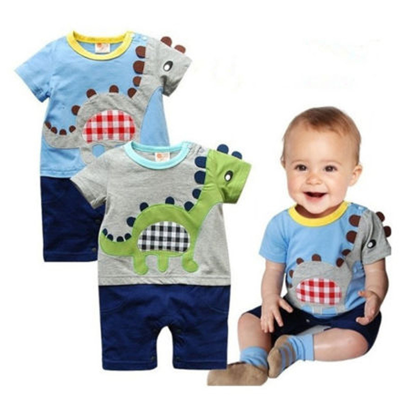 High Quality 1pc Boy Kids Baby Toddler Infant Cute Dinosaur Romper Jumpsuit Clothing Outfit #KS0129(China (Mainland))