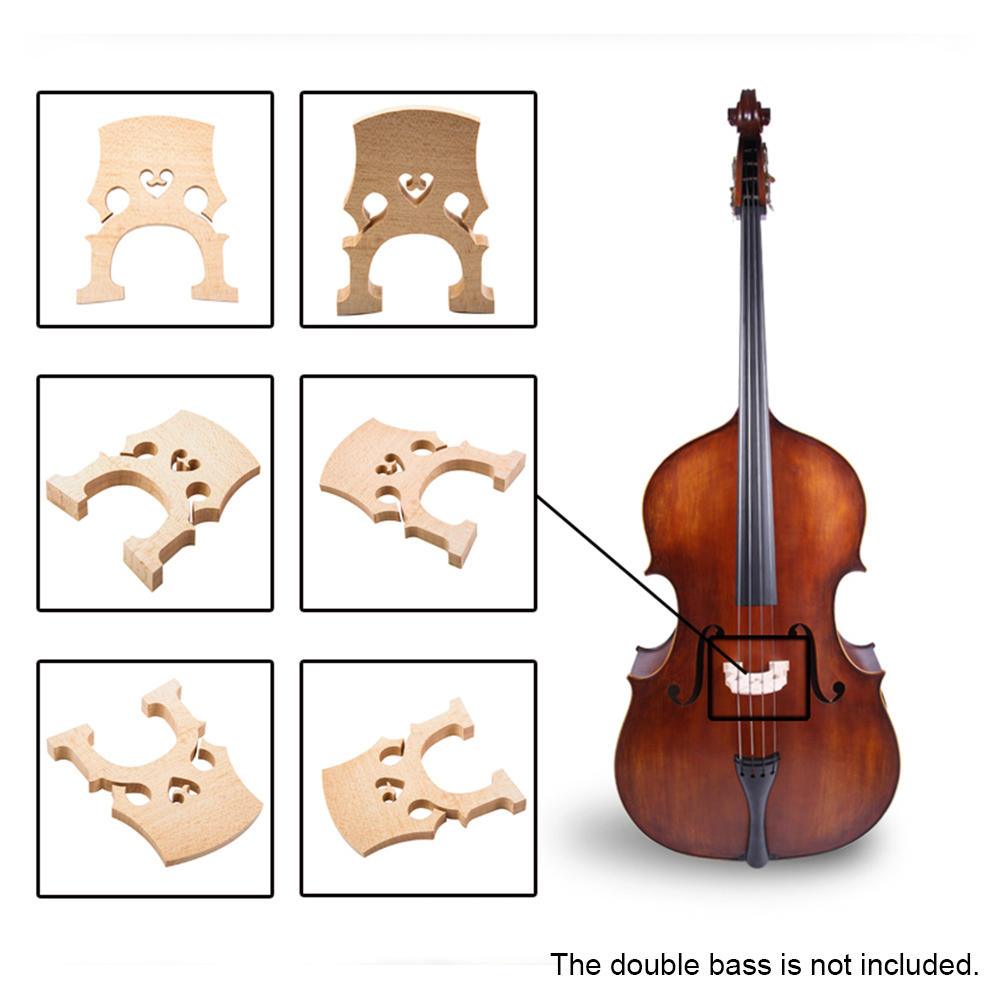 High Quality 1pc 1/4 1/2 3/4 4/4 Maple Bridge Double Bass Contrabass Upright Bass Bridge Musical Instruments Replacement Part(China (Mainland))