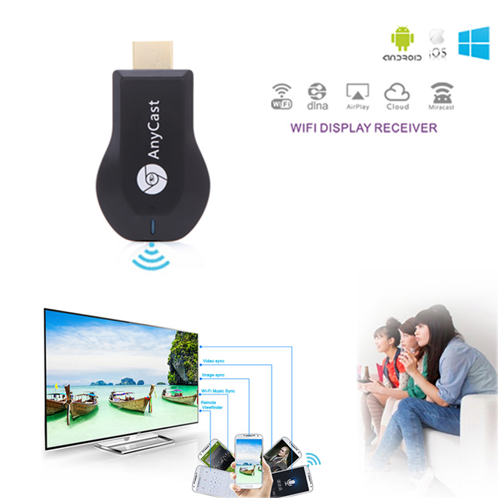 2016 new AnyCast M2 Airplay Wireless Display TV Dongle Receiver DLNA Easy Sharing Mini TV Stick HD 1080P for Android IOS WINDOWS(China (Mainland))