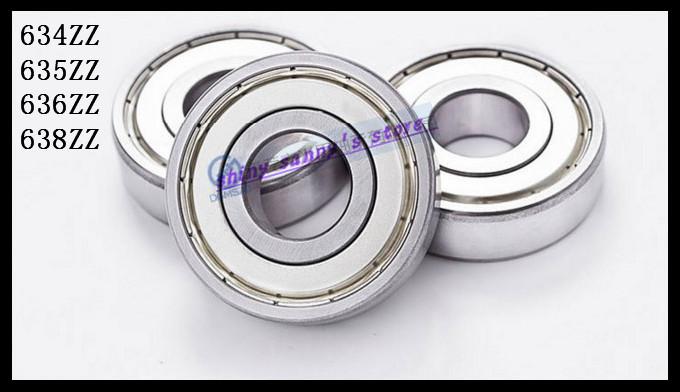 10pcs/Lot 634ZZ 634 ZZ 4x16x5mm Mini Ball Bearing Miniature Bearing Deep Groove Ball Bearing