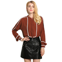 Buy 2017 spring blouses New Women shirt Fashion Casual Long-sleeved chiffon shirt Elegant Slim Solid color plus size blusas for $17.80 in AliExpress store