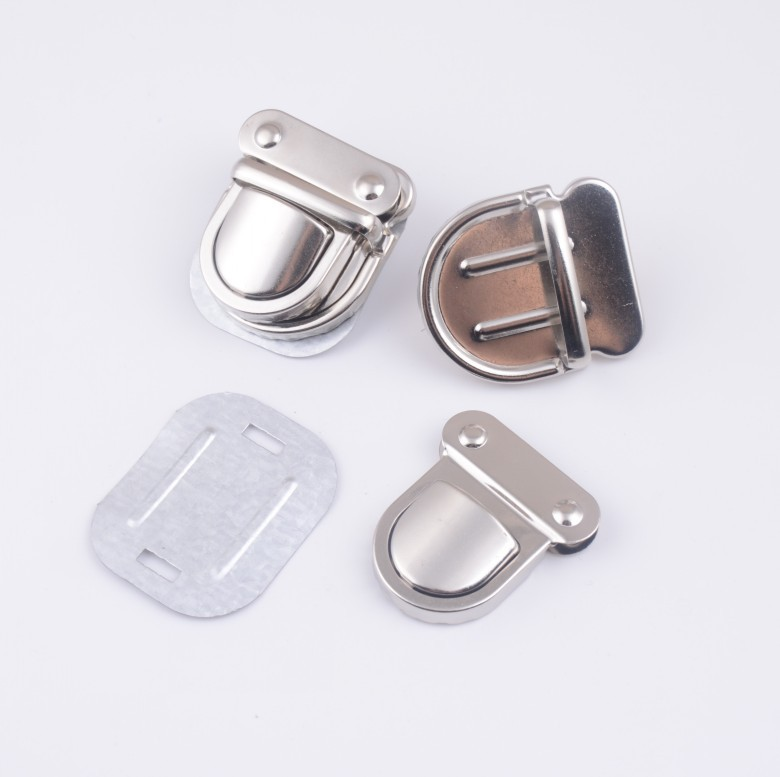 Free Shipping-5 Sets Silver Tone Trunk Lock Handbag Bag Accessories Purse Snap Clasps/ Closure Locks 38x43mm D2865(China (Mainland))