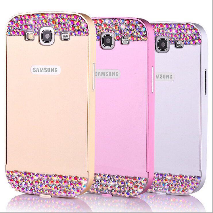 Luxury Case For Samsung galaxy s3 i9300 Sparkle Bling Glitter Skin Glam Hard Plastic Back Cover Shell Cell phone Cases(China (Mainland))