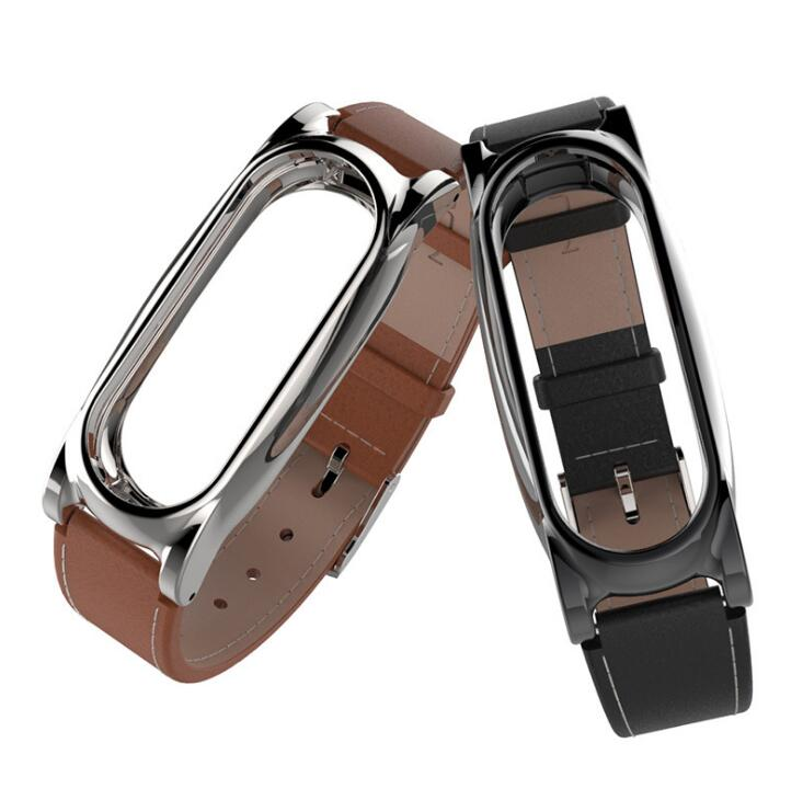 2017 New Mijobs Leather Strap For Xiaomi Mi Band 2 Wrist Straps Screwless Bracelet Smart Band Replace Accessories For Mi Band 2