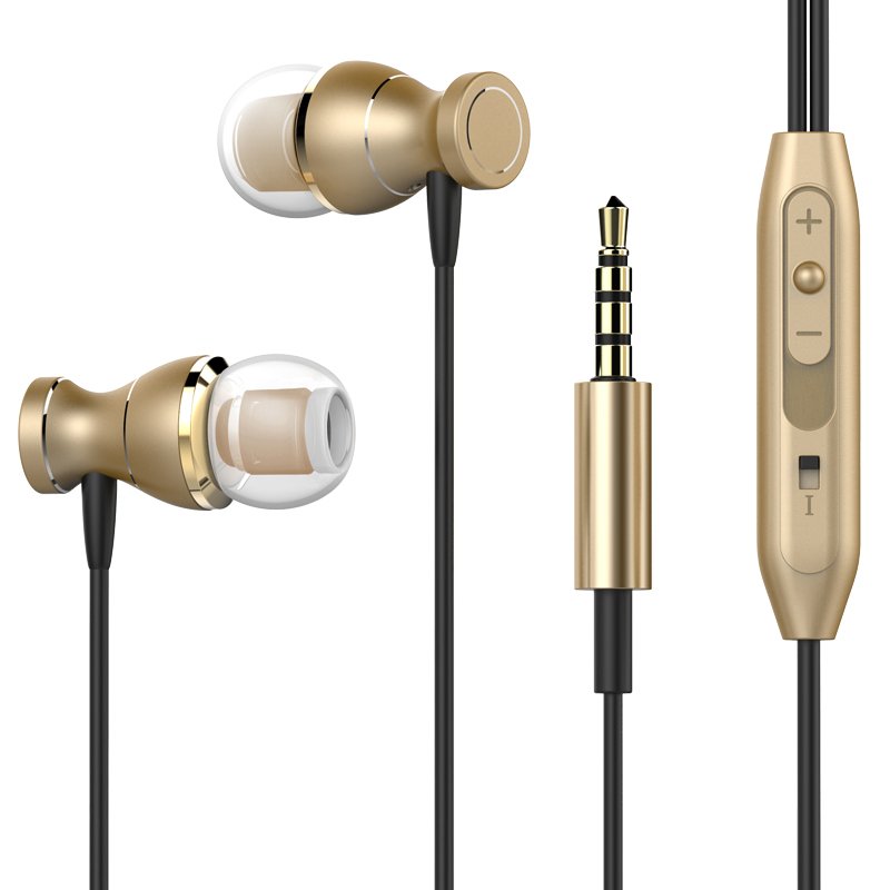 Magnetic Earphones Headphone Metal Headsets Hot Sale 3.5mm Super Bass Stereo Earbuds With Mic For Mobile Phone MP3 MP4(China (Mainland))