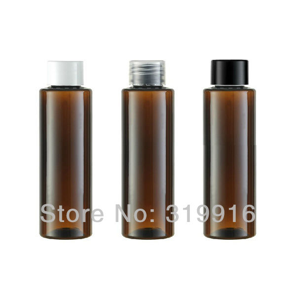 Free shipping R24-100ml brown cylinder empty plastic  bottle  PET with screw top lid   50pc/lot<br><br>Aliexpress