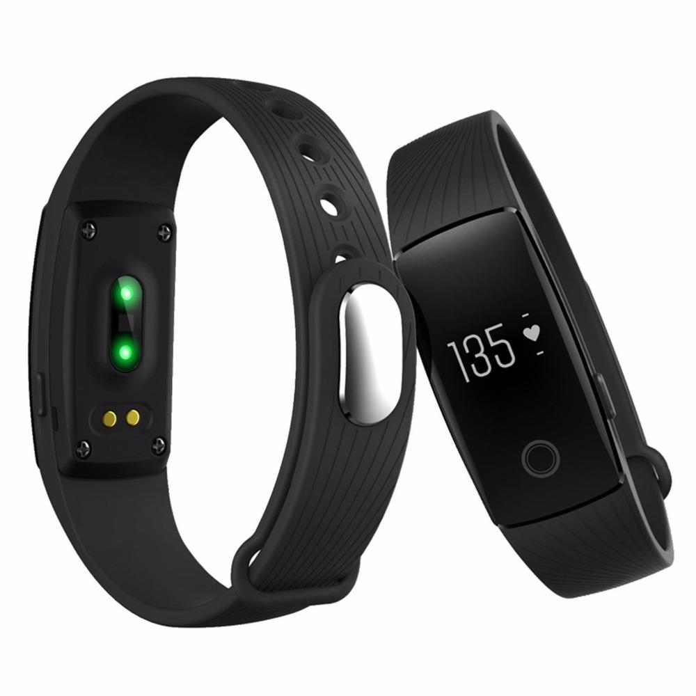 ID107 Bluetooth 4.0 Smart Bracelet band Heart Rate Monitor 107 Wristband Activity Fitness Tracker for iPhone xiaomi PK Mi Band 2(China (Mainland))