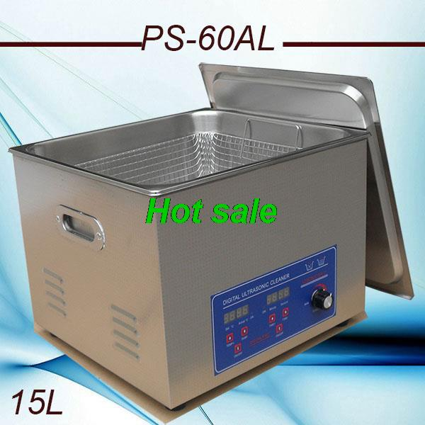 Hot 110V/220V PS-60AL 360W Power adjustment 150-360w Heater&timer Ultrasonic Cleaner 15L Cleaning Equipment Stainless Steel(China (Mainland))