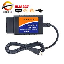 2016 Top vente Interface USB ELM327 OBD2 Auto Scanner V2.1 OBDII OBD II 2 USB ELM327 Scanner Super(China (Mainland))