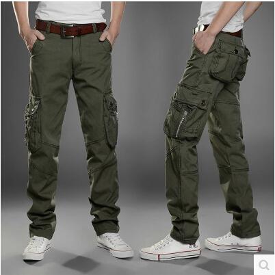 cotton cargo pants for men - Pi Pants