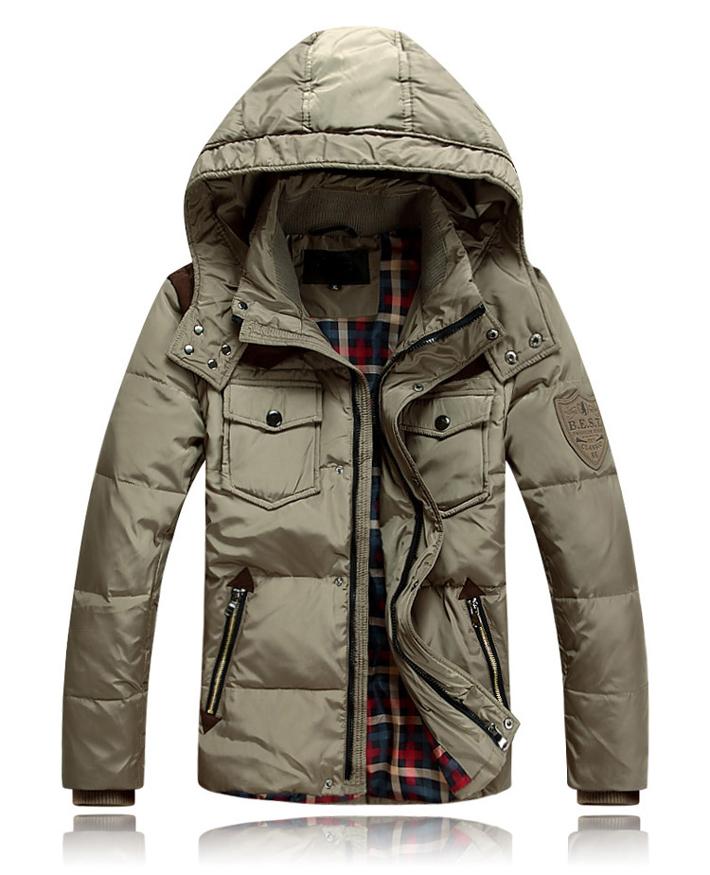 2015 Men Duck Down Winter Coat Detachable Waterproof Winter Coat Men 90 Down Jacket Coat Plus