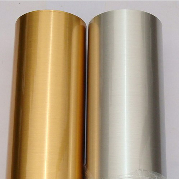 Metallic Silver Gold Film Self adhesive Stainless Steel Contact Paper 5 meters DIY Wallpaper(China (Mainland))