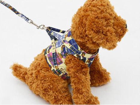 High Quality 4 colors Dog Harness Canvas Dog Puppy...
