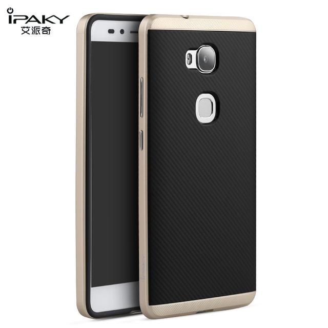 Huawei чести 5X чехол крышка IPAKY тпу и пк гибридный двухслойный с рамкой задняя крышка коке защитный чехол для мобильного телефона Fundas