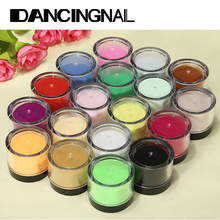 Wholesale 18pcs Color Acrylic Powder for Nail Art Tips UV Glitter Polish Kit Decorate Tools Set Random Color(China (Mainland))