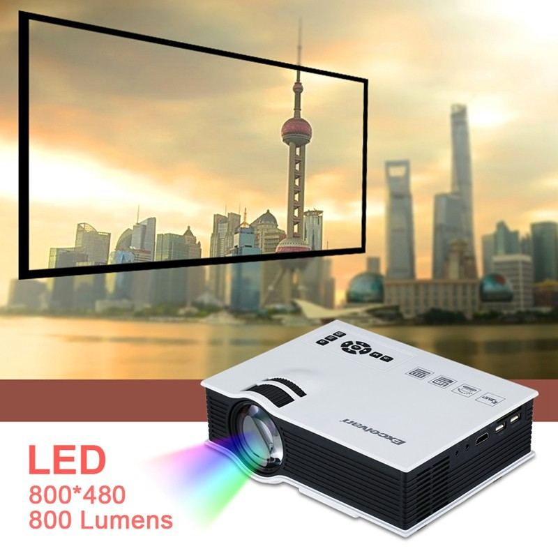 Excelvan UC40 800 Lumens Portable Mini LED Projector Multimedia Home Cinema Theater 800480RGB USBAVSDHDMI 3.5mm Audio out 01
