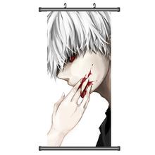 45X95CM Tokyo Ghoul Guru Ken Kaneki Japan Anime Cartoon print wall scroll picture mural poster art cloth canvas painting m7707