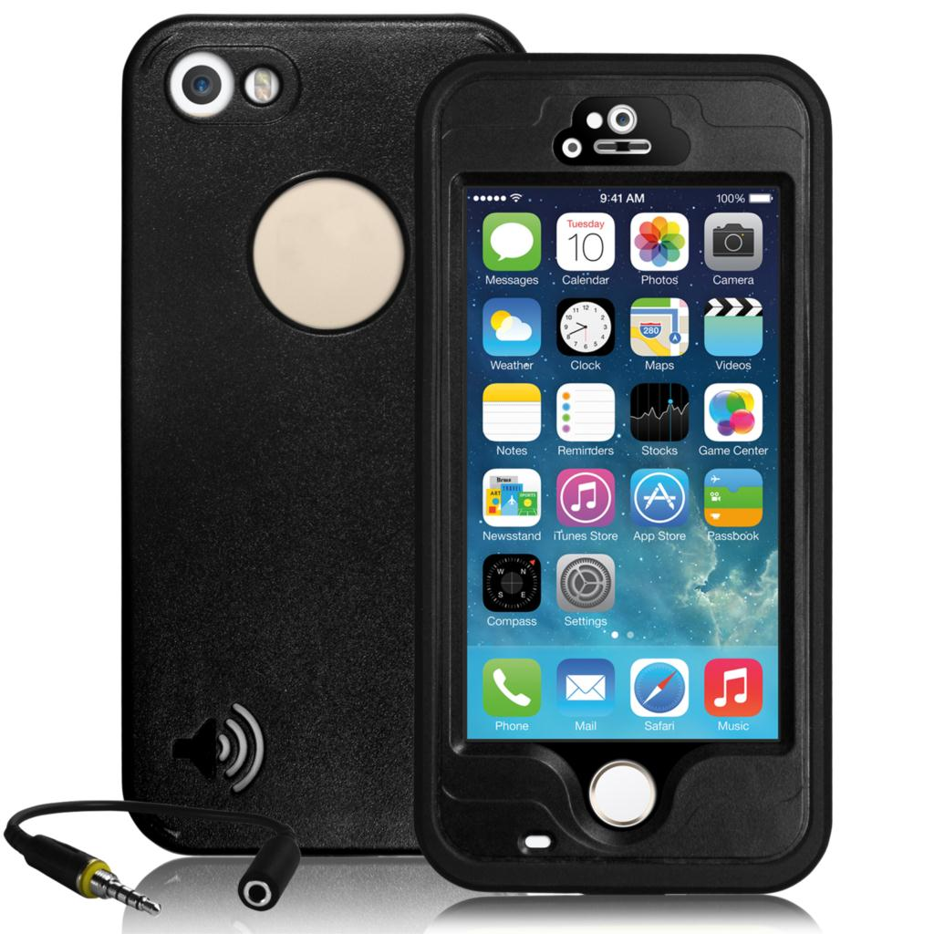 Mobile Phone Bag For iPhone 5 5S Waterproof Phone Cases Shockproof Cover Fingerprint Touch ID Full Protective Case Shell(China (Mainland))