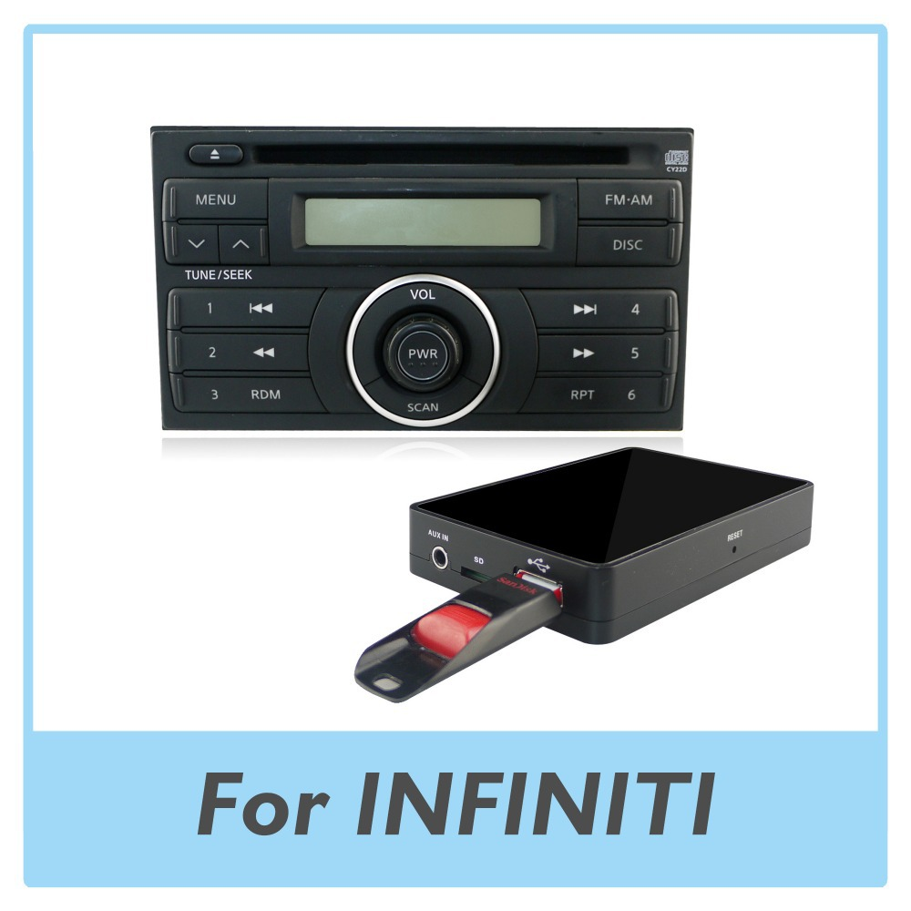 car radio usb aux sd card adapter mp3 player digital cd changer for infiniti g37 2008 2009 in. Black Bedroom Furniture Sets. Home Design Ideas