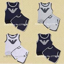 2015 Summer Style Children Boy Clothing Cotton Set Shirt+pants 2pcs Suit Shorts Clothing Set Family Clothing Kids Clothes(China (Mainland))