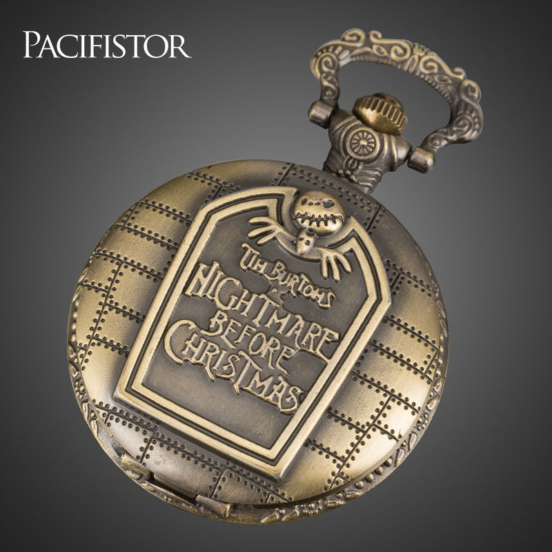 PACIFISTOR Pocket Watch Steampunk Vintage Style Stainless Steel Case and Chain Necklace Unisex Best Clock Gift Relojes(China (Mainland))