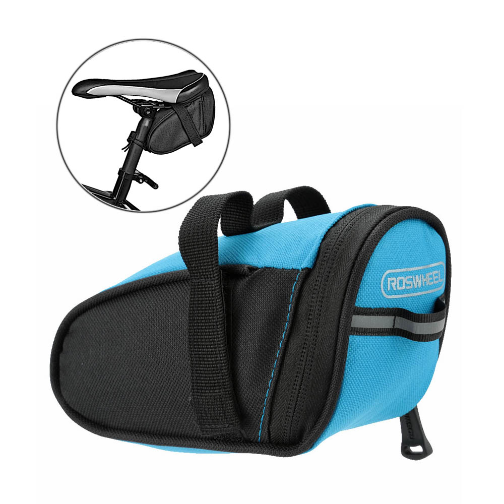New Arrival Roswheel Outdoor Cycling Mountain Bike Bags Bicycle Saddle Bag Back Seat Tail Pouch Package Black/Green/Blue/Red(China (Mainland))