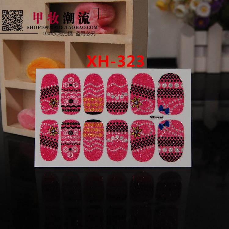 Fluorescent Beautiful Nail Sticker 3d nail art molds dress Patch Flower(China (Mainland))