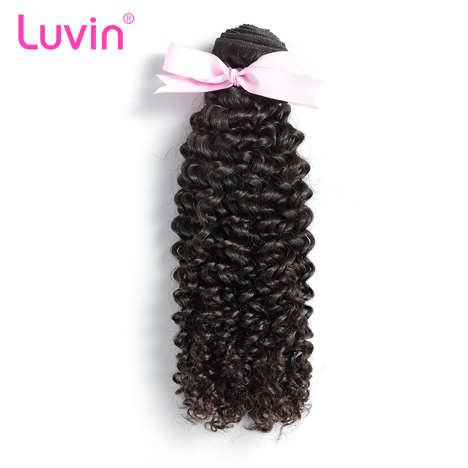 Luvin Mongolian Kinky Curly Hair 100% Remy Human Hair Weave Bundles Natural Color Free Shipping(China (Mainland))