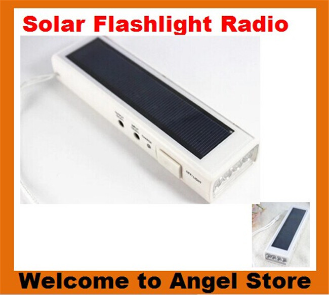Free Shipping 5PCS/LOT Solar FM Radio+Mobile Power Supply can charge different mobile phone+Flashlight 4LED LAMPS(China (Mainland))