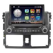 8″ Car Radio 2 Din Car DVD Player in Dash GPS Navigation Car Monitor PC Stereo Head set for Toyota Vios 2014 +Free Map Free Card