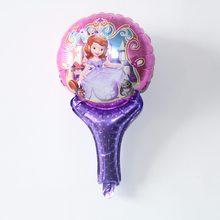10 pçs/lote mickey minnie Moana Mão Segurando Varas princesa Balão Balões Folha spiderman Fontes Do Partido Brinquedos(China)