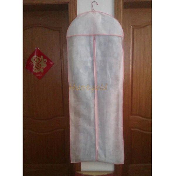 Anti Dust Clothes Cover Bag Bridal Wedding Dress Gown Garment Bag Protector Storage Carry Bag In
